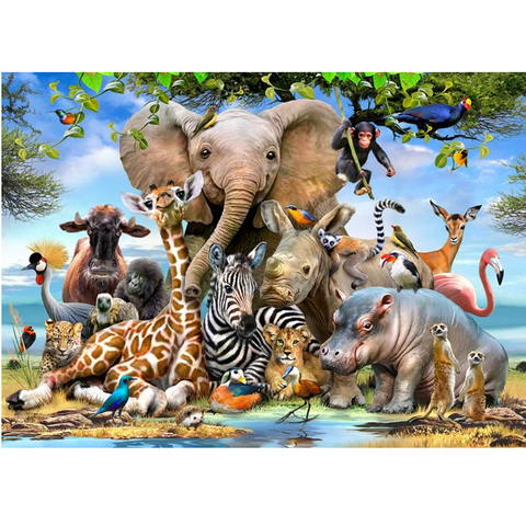 Babies of the wild Jigsaw Puzzle - 50 Pieces