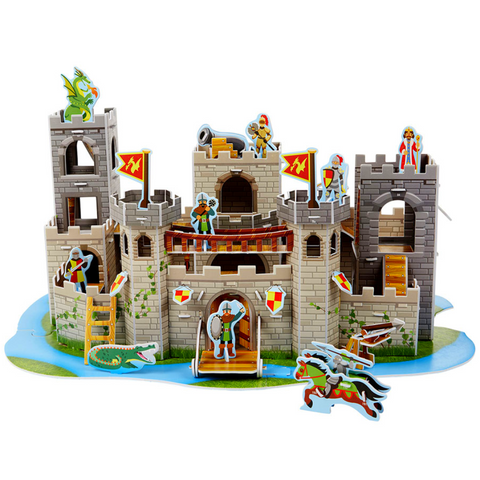Medieval Castle 3D Puzzle & Play Set In One