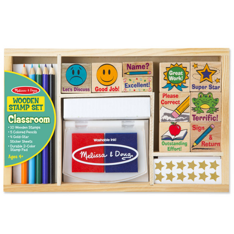 Wooden Stamp Set - Classroom