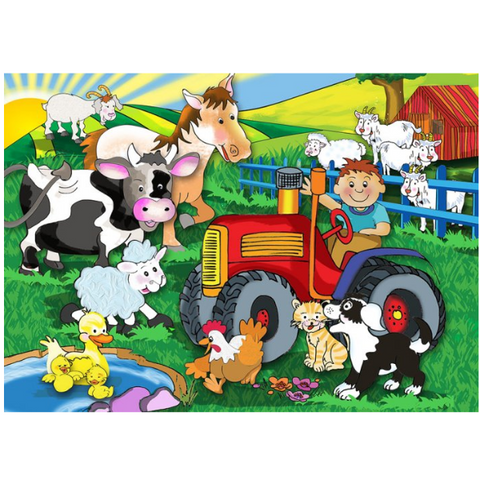 Farm Wooden Jigsaw Puzzle - 15 Pieces