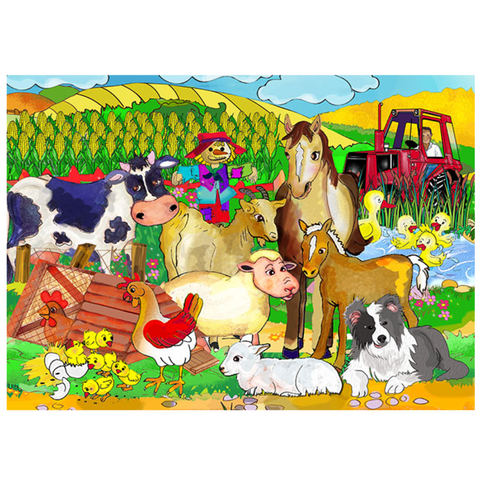 Farm Wooden Jigsaw Puzzle - 9 Pieces