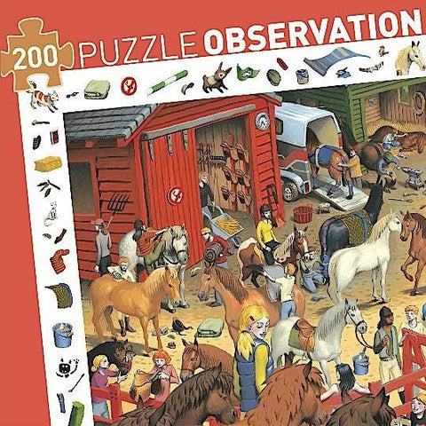 Observation Puzzle - Horse Riding 200 PC
