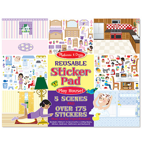 Reusable Play House Sticker Pad