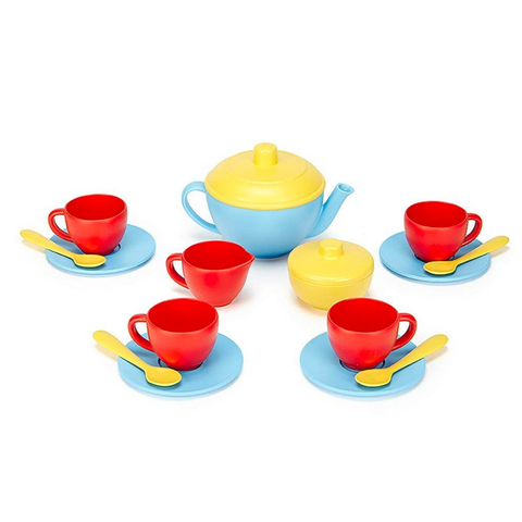 Tea Set - Blue Teapot