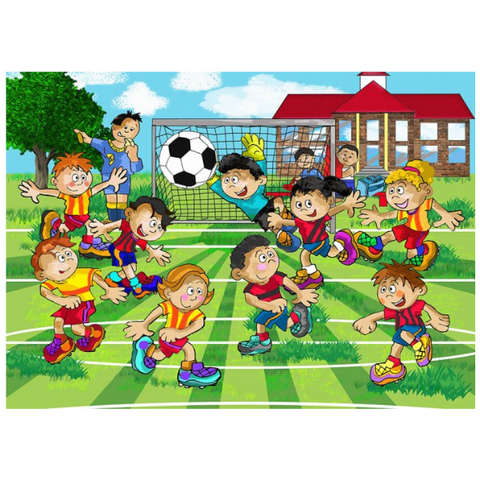 Soccer Wooden Jigsaw Puzzle - 18 Pieces