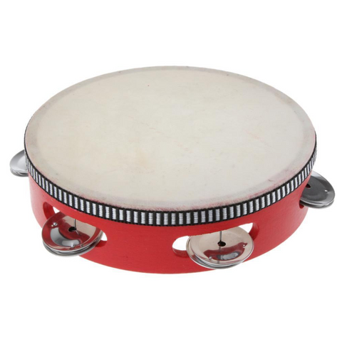 Tambourine with Skin & 5 Bells