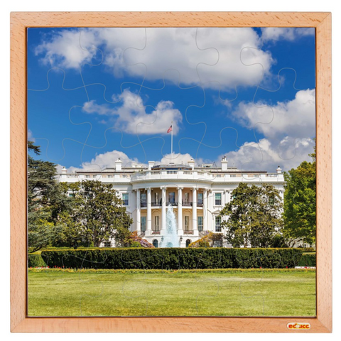 The White House Wooden Jigsaw Puzzle - 25 Pieces