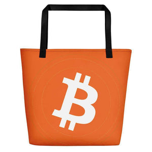 Bitcoin Beach Bag TheBitcoinWardrobe Black