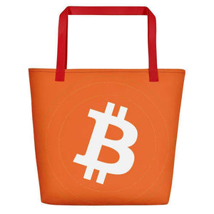 Bitcoin Beach Bag TheBitcoinWardrobe Red