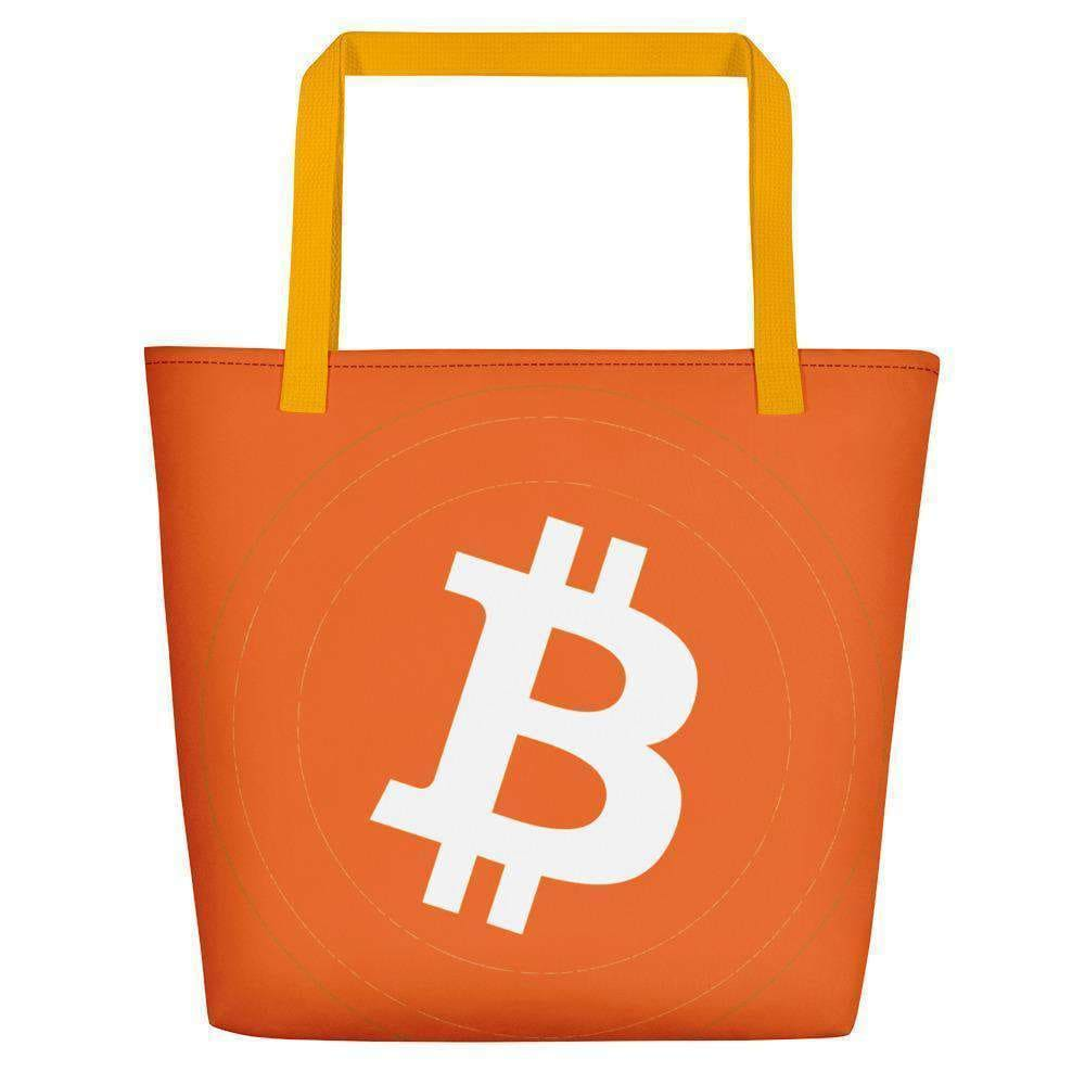 Bitcoin Beach Bag TheBitcoinWardrobe Yellow