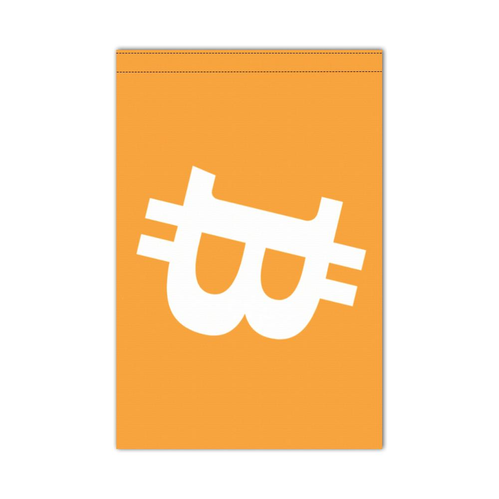 Bitcoin Flag 12x18 inch (For boats or outdoors, delivered without flagpole)