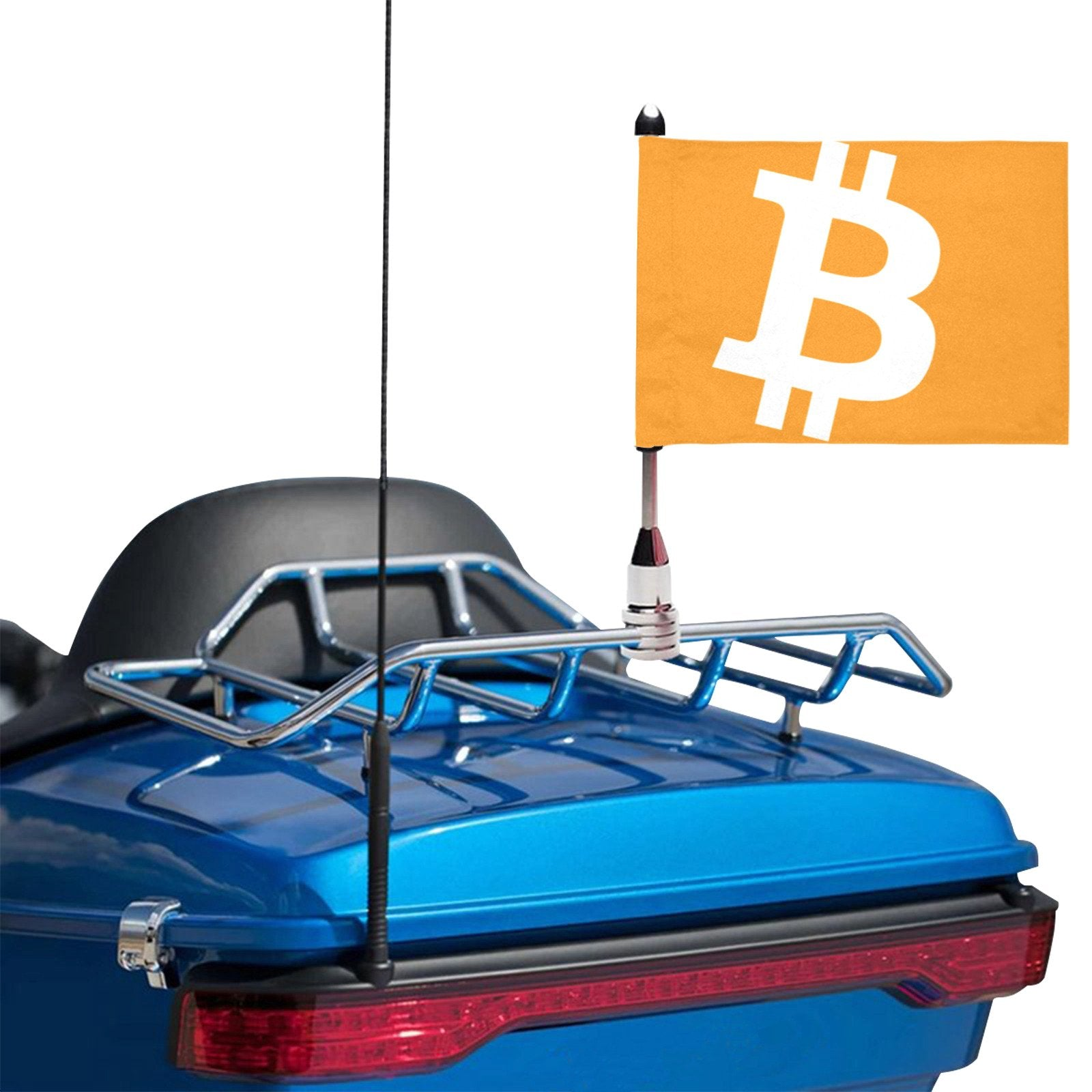 Bitcoin flag for Car or Motorcycle (Twin Sides, delivered without flagpole)