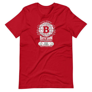 Bitcoin Global Future Currency Unisex T-Shirt - Red / S