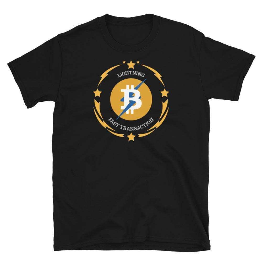 Bitcoin Lightning Layer 2 Unisex T-Shirt - Black / S
