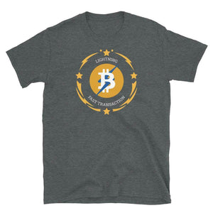 Bitcoin Lightning Layer 2 Unisex T-Shirt - Dark Heather / S