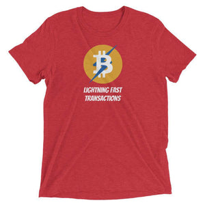 Bitcoin Lightning Unisex t-shirt - Red Triblend / S