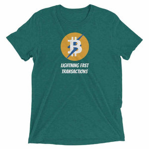 Bitcoin Lightning Unisex t-shirt - Teal Triblend / S