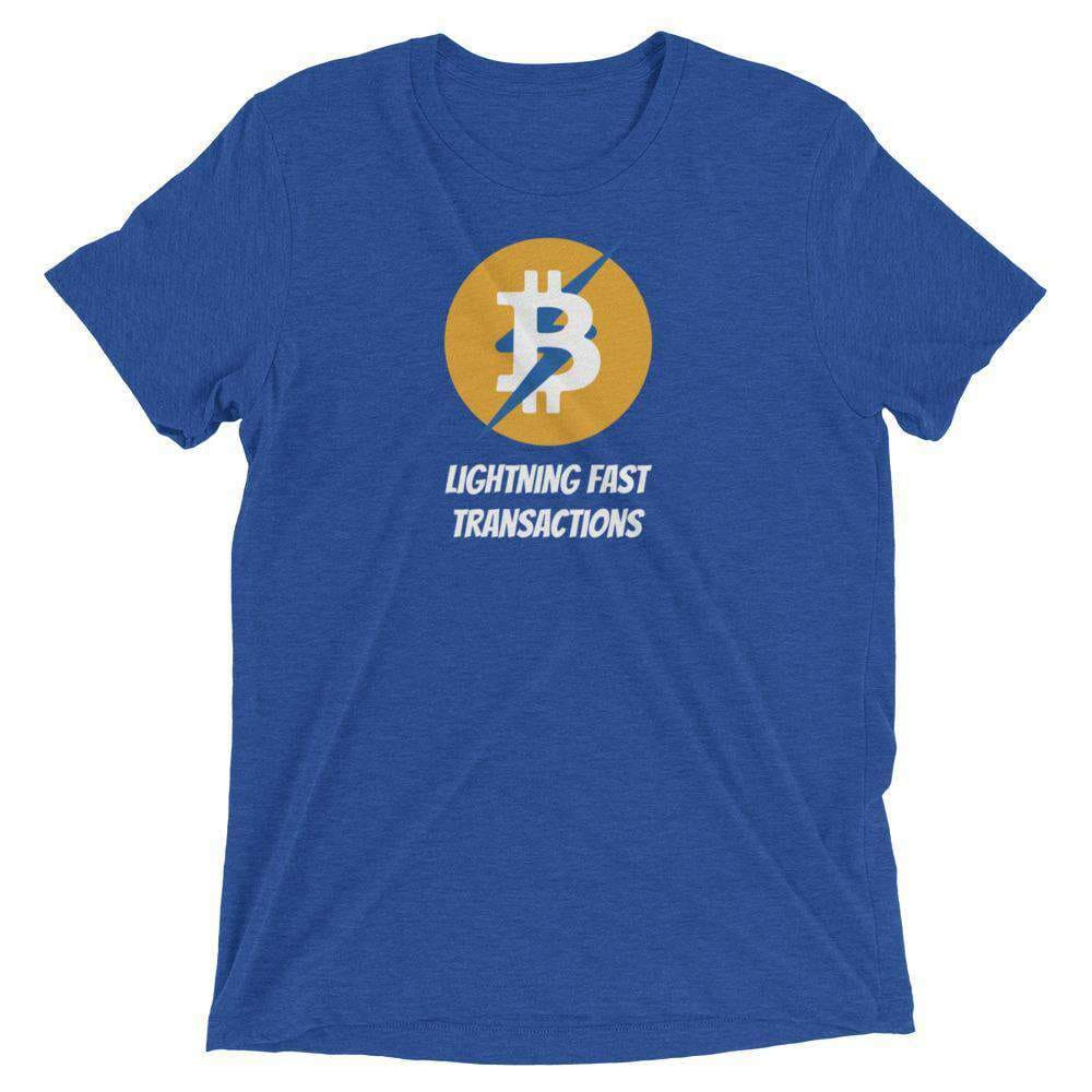 Bitcoin Lightning Unisex t-shirt - True Royal Triblend / S