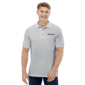 Bitcoin Logo Embroidered Polo Shirt