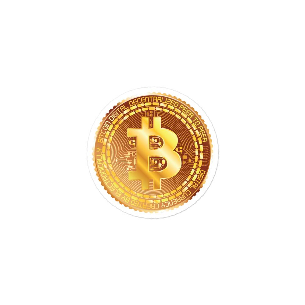 Bitcoin Metal Coin Bubble-free stickers
