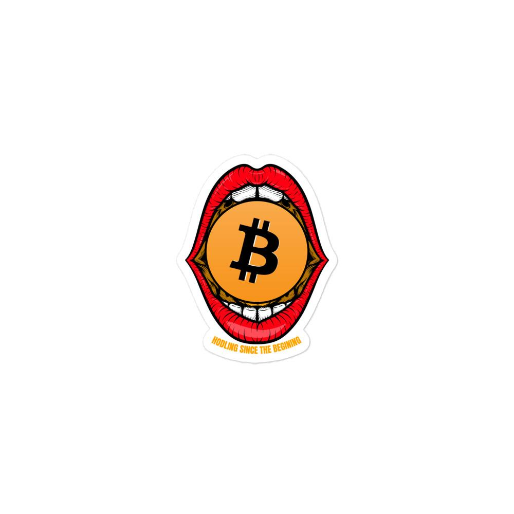 Bitcoin mouth hodler Bubble-free stickers