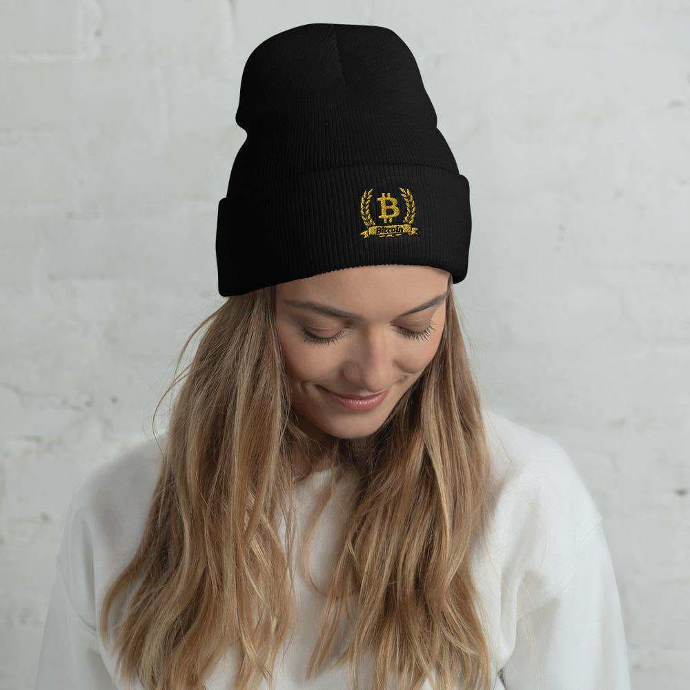 Bitcoin Olive Branch Cuffed Beanie