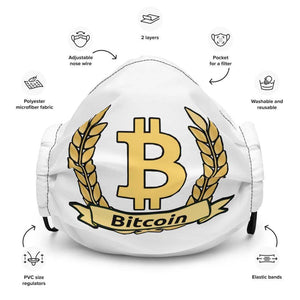 Bitcoin Olive Branch Face mask - Black