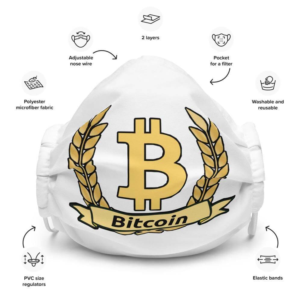 Bitcoin Olive Branch Face mask