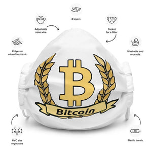 Bitcoin Olive Branch Face mask - White