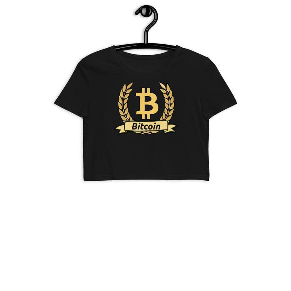 Bitcoin Olive Branch Organic Crop Top