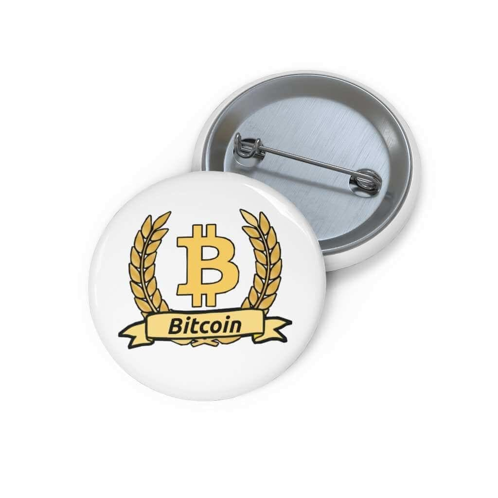 Bitcoin Olive Branch Pin Button - 1,25