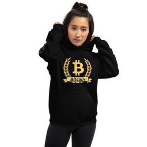 Bitcoin Olive Branch Sleeve Logo Unisex Hoodie