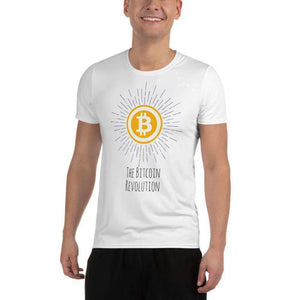 Bitcoin Revolution, Men's Athletic T-shirt TheBitcoinWardrobe XS