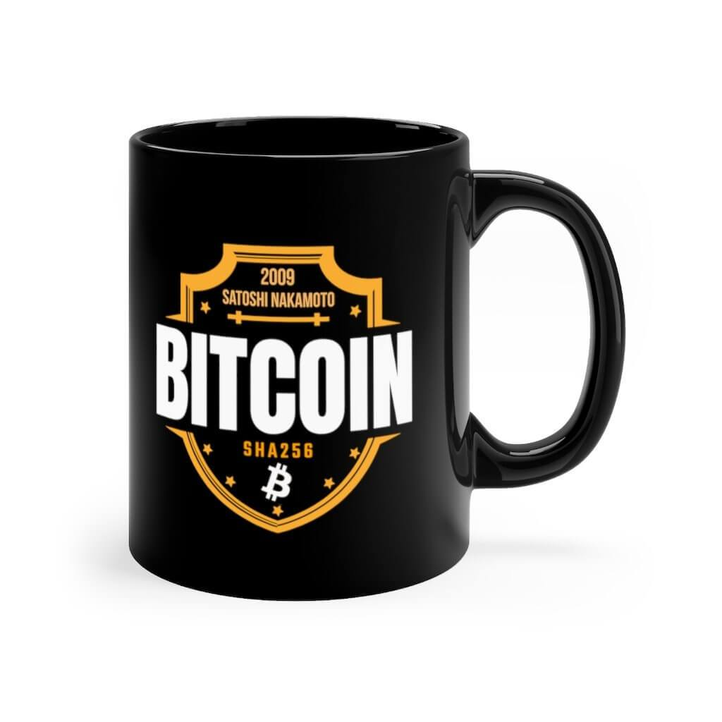 Bitcoin Shield Black mug 11oz - 11oz - Mug