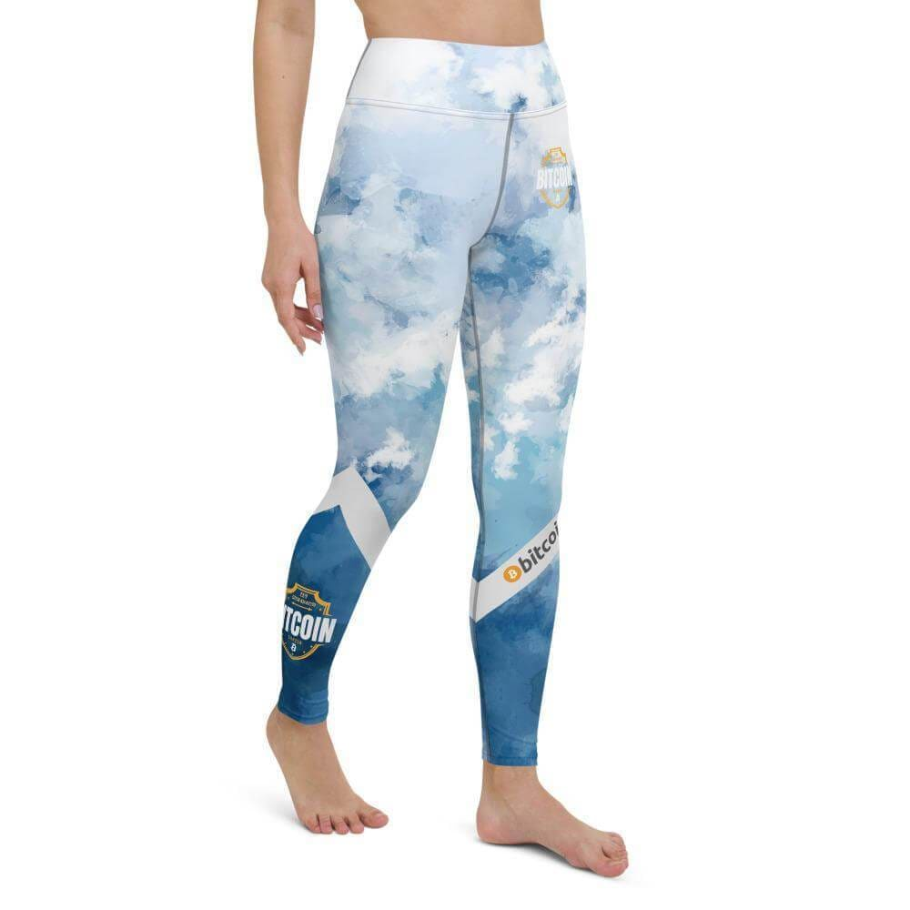Bitcoin Shield Yoga Leggings