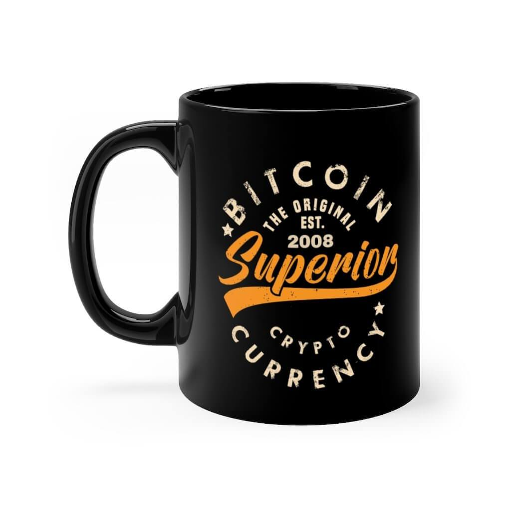 Bitcoin Superior Cryptocurrency Black mug 11oz - 11oz - Mug