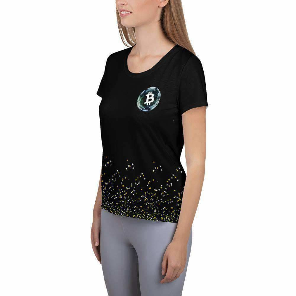 Black Bitcoin Women's Athletic T-shirt