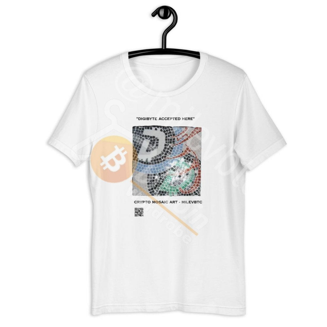 Digibyte Accepted Here, Mosaic, Unisex T-Shirt