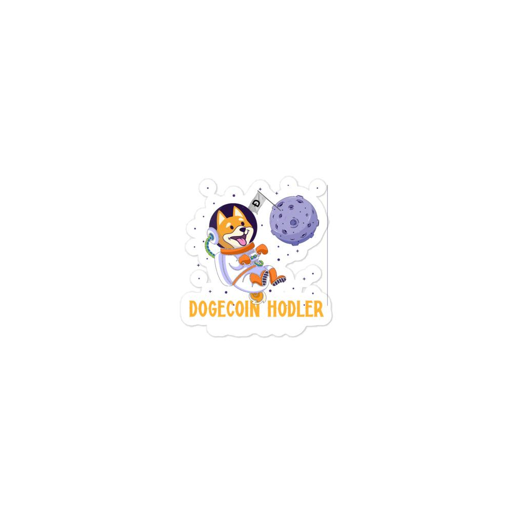 Dogecoin to the moon Bubble-free stickers