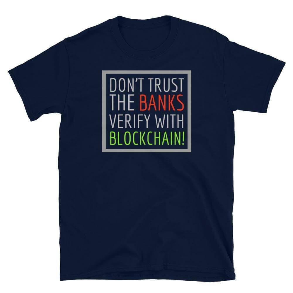 Don't Trust The Banks Unisex T-Shirt - Navy / S