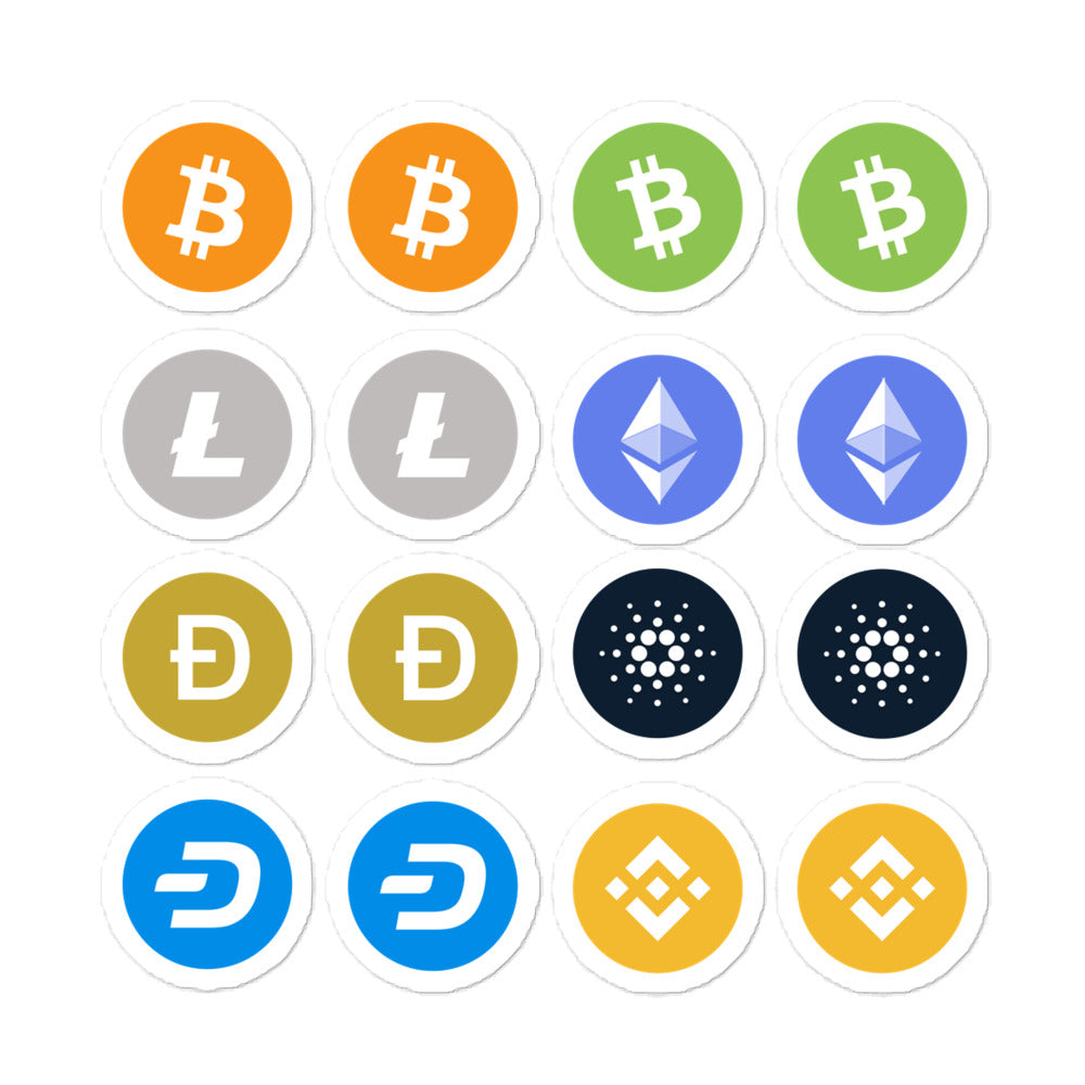 Small Crypto Essential Icon Value Pack Bubble-free stickers (1 inch aprox)