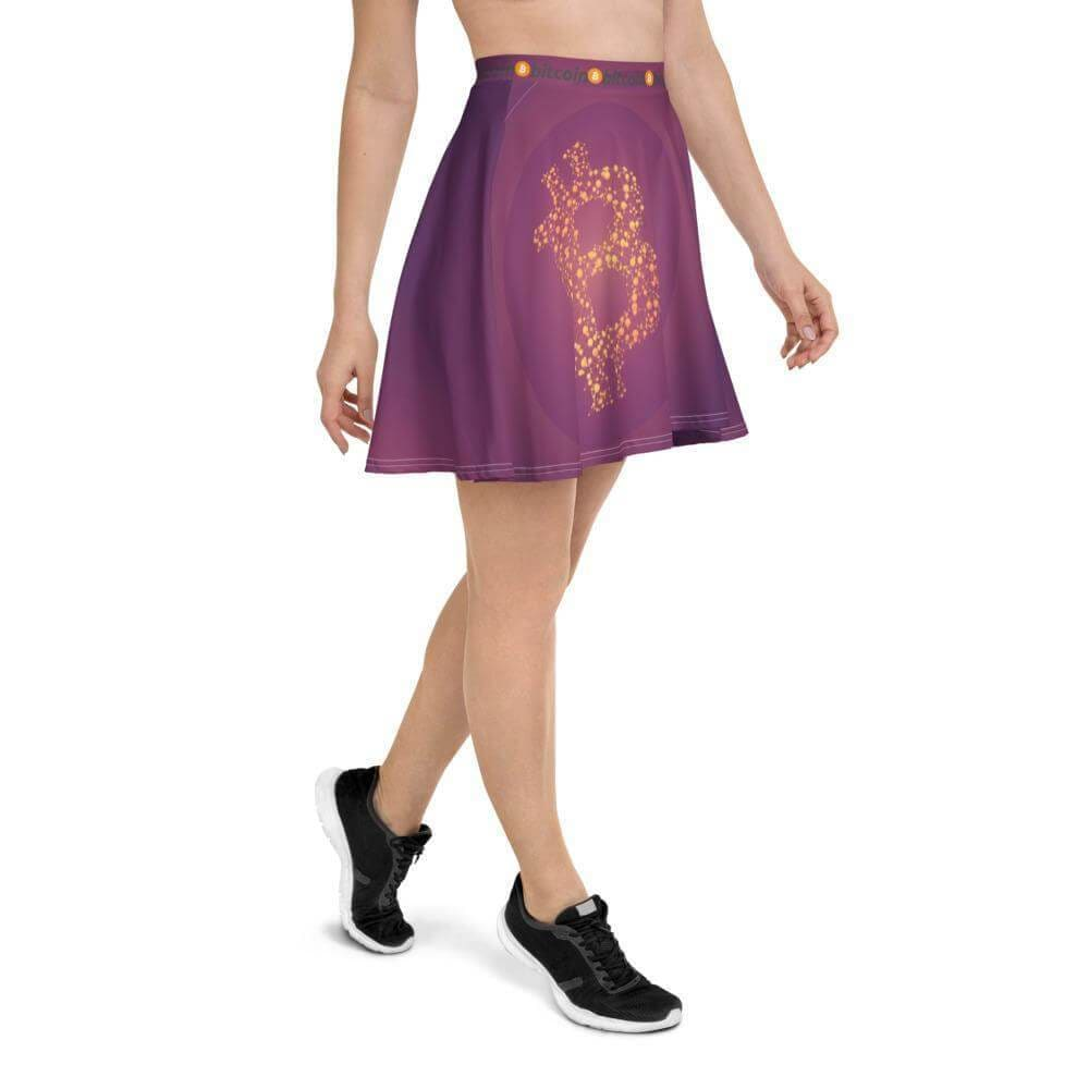 Purple Bitcoin Skater Skirt