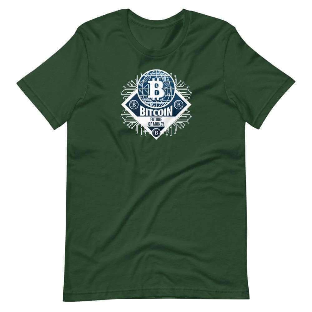 The Future Money Bitcoin Unisex T-Shirt - Forest / S
