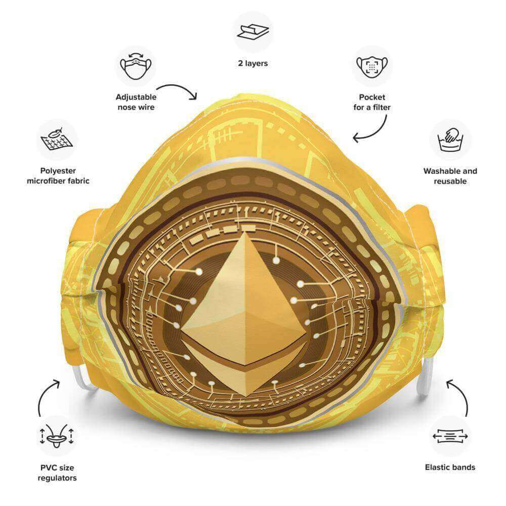 Yellow Ethereum Face mask