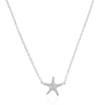 Silver Sea Star Choker Necklace