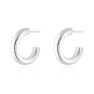 Silver Bold Hoop Earrings