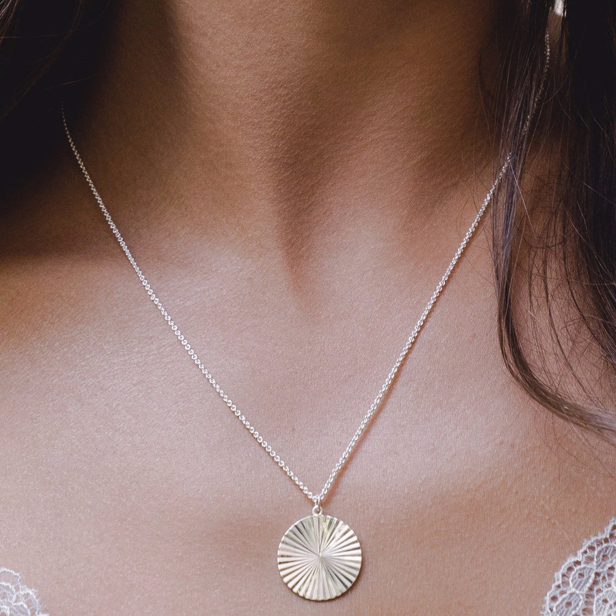 Sun Dial Pendant Necklace