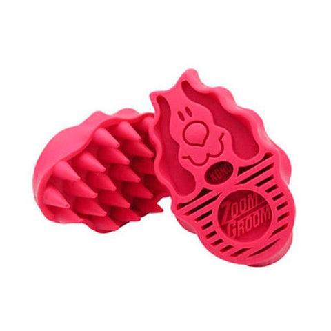 Kong ZoomGroom cepillo rosa