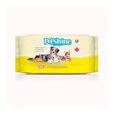 Petshine Chlorexidine wipes for dogs and cats