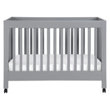 maki folding crib portable babyletto gray